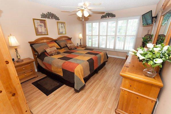 Master Bedroom-En suite with views over pool area