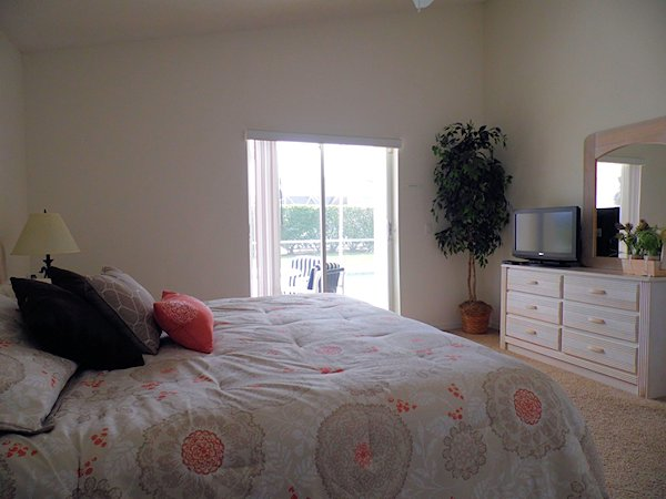 Rear Master bedroom with King size bed.