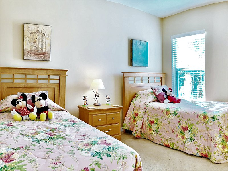 One of two twin rooms