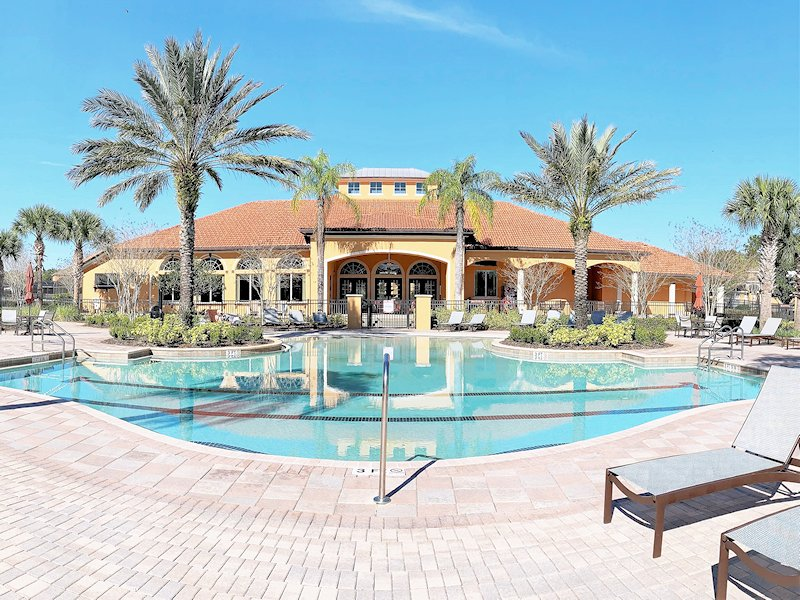 Superb clubhouse and resort pool