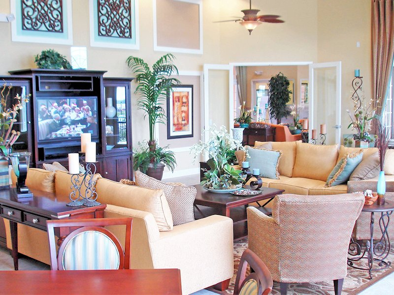 Beautifully furnished clubhouse