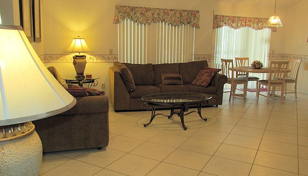 Family room with dining area