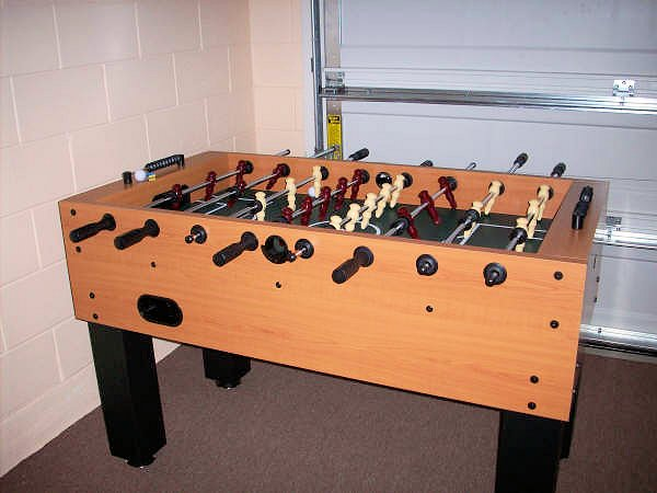 Foosball table plus washer & dryer in the games room