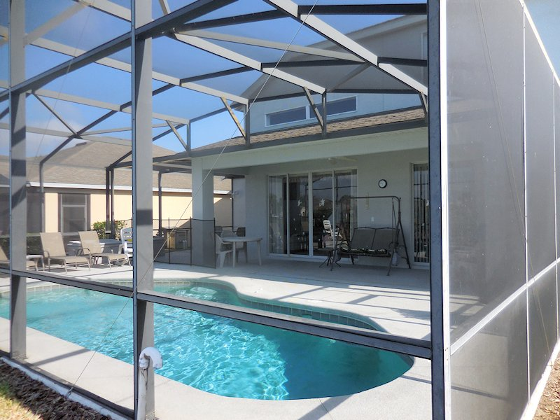 Rear view of Pool and Patio Area
