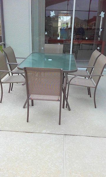 6 Seater Table on Patio