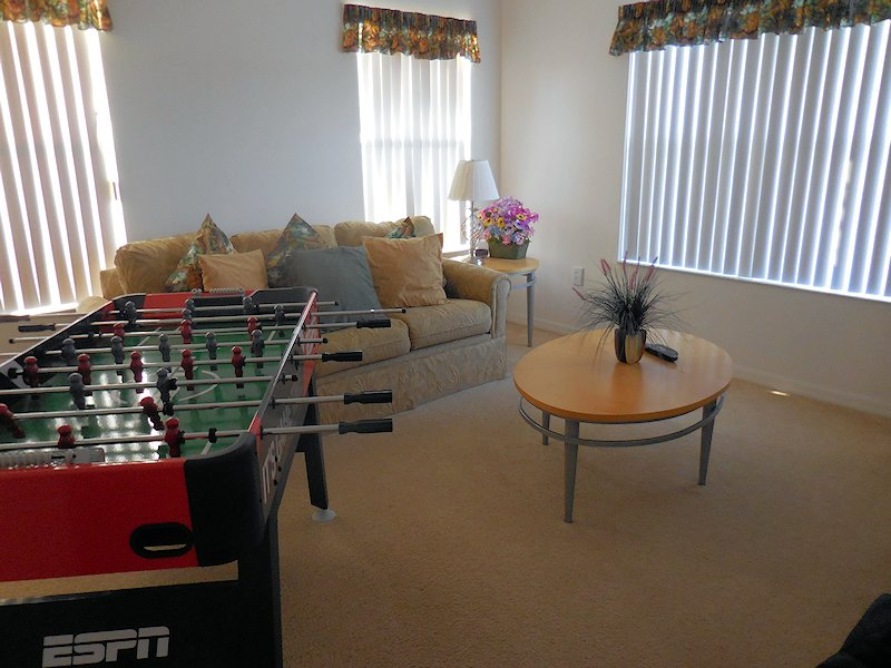 Moveable Foosball Table in Den Area